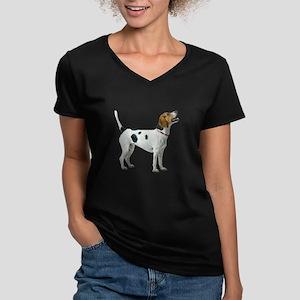 Foxhound Women's V-Neck Dark T-Shirt
