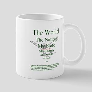 Colossians 3:2 Face-Out Mug Mugs