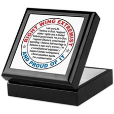 Right Wing Extremist Keepsake Box