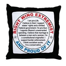 Right Wing Extremist Throw Pillow
