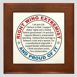 Right Wing Extremist Framed Tile