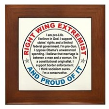 Right Wing Extremist Framed Tile