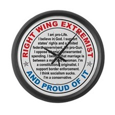 Right Wing Extremist Large Wall Clock