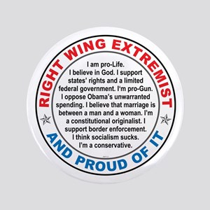 "Right Wing Extremist 3.5"" Button"