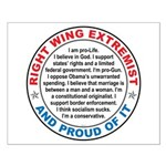 Right Wing Extremist Small Poster