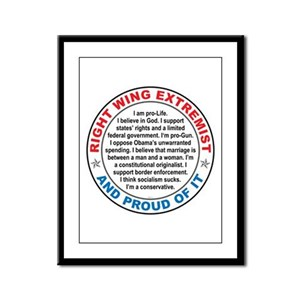 Right Wing Extremist Framed Panel Print