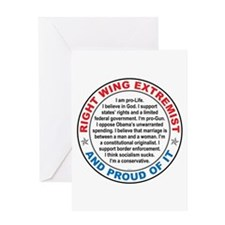 Right Wing Extremist Greeting Card