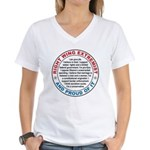 Right Wing Extremist Women's V-Neck T-Shirt