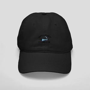 "Wellfleet MA ""Varsity"" Design. Black Cap"