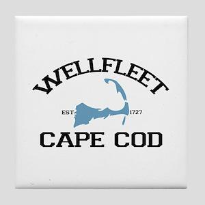 "Wellfleet MA ""Varsity"" Design. Tile Coaster"