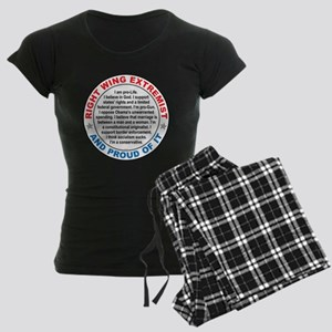 Right Wing Extremist Women's Dark Pajamas