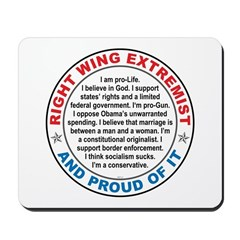 Right Wing Extremist Mousepad