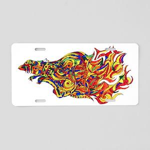 Phoenix Flames Illustration Aluminum License Plate