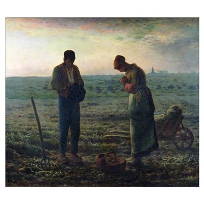 The Angelus, 1857 59 (oil on canvas) Poster