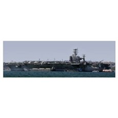 USS Carl Vinson in Lisbon Poster