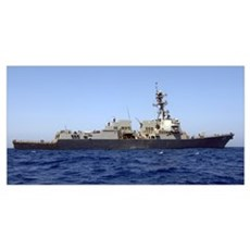 The guidedmissile destroyer USS James E Williams c Canvas Art