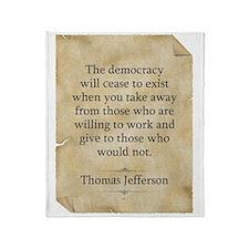 Thomas Jefferson Throw Blanket
