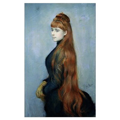 Portrait of Mademoiselle Alice Guerin (oil on canv Poster