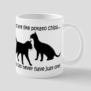 """Cats are like potato chips.. Mug"