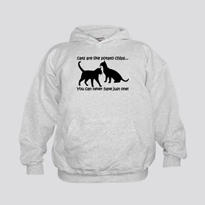 """Cats are like potato chips.. Kids Hoodie"