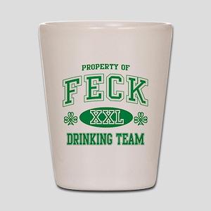 Feck Irish Drinking Team Shot Glass
