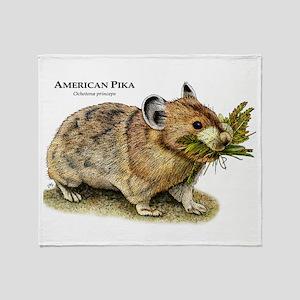 American Pika Throw Blanket