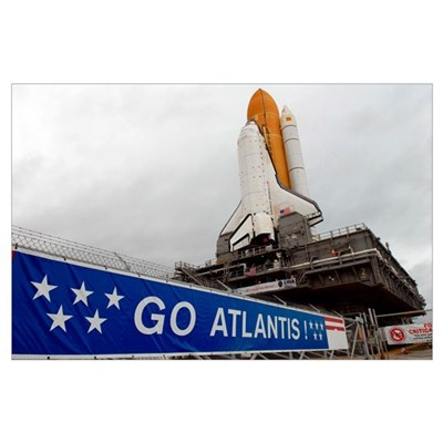 A view Space Shuttle Atlantis on Launch Pad 39A at Poster