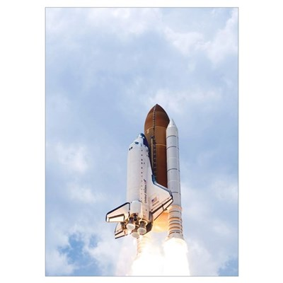 Space Shuttle Atlantis lifts off from its launch p Poster