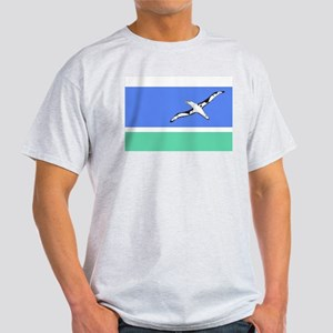 Midway Islands Flag Grey T-Shirt