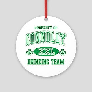 Connolly Irish Drinking Team Ornament (Round)