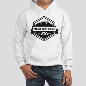 Alpha Tau Omega Mountains Ribbon Hooded Sweatshirt