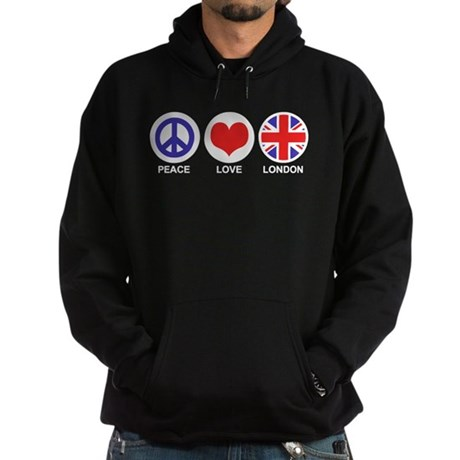 Peace Love London Hoodie (dark)