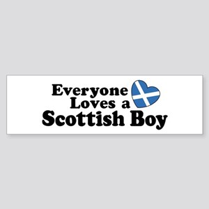 Everyone Loves a Scottish Boy Bumper Sticker