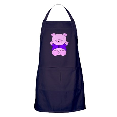 Taurus Cartoon Pig Apron (dark)