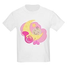 French Horn Music Kids Light T-Shirt