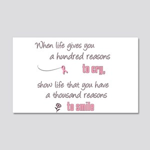 Thousand Reasons to Smile 22x14 Wall Peel