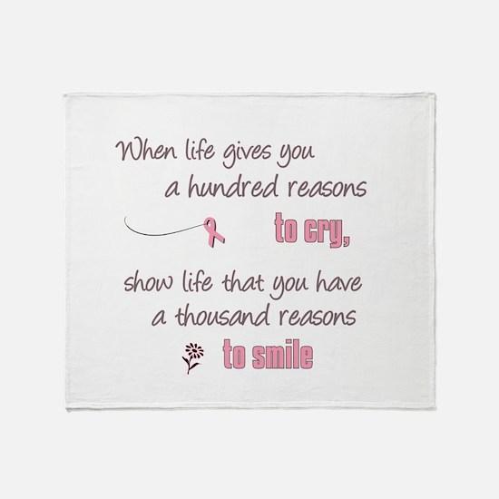 Thousand Reasons to Smile Throw Blanket