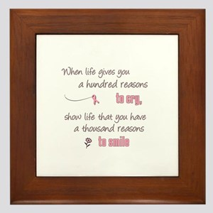 Thousand Reasons to Smile Framed Tile