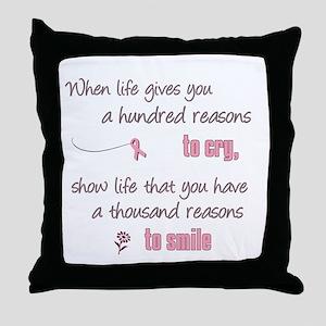 Thousand Reasons to Smile Throw Pillow