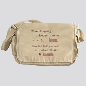 Thousand Reasons to Smile Messenger Bag
