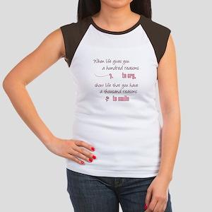 Thousand Reasons to Smile Women's Cap Sleeve T-Shi