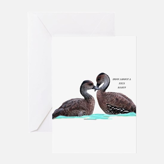 Ducks in Love Greeting Cards