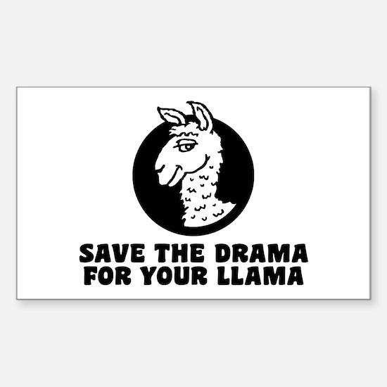Drama Llama Sticker (Rectangle)