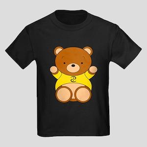 Cancer Cartoon Bear Kids Dark T-Shirt