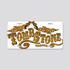 Tombstone Saloon Aluminum License Plate
