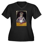 The Fortune Teller Women's Plus Size V-Neck Dark T
