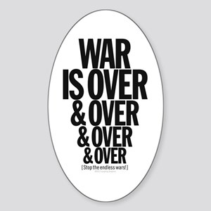 War Is Over. Sticker (Oval)