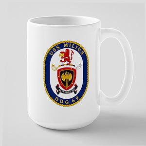 USS Milius DDG 69 Large Mug