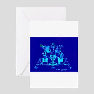 Eagle Apollo Lunar Module Greeting Card