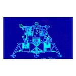 Eagle Apollo Lunar Module Sticker (Rectangle 50 pk